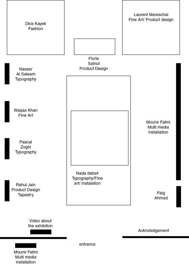 Exhibition map